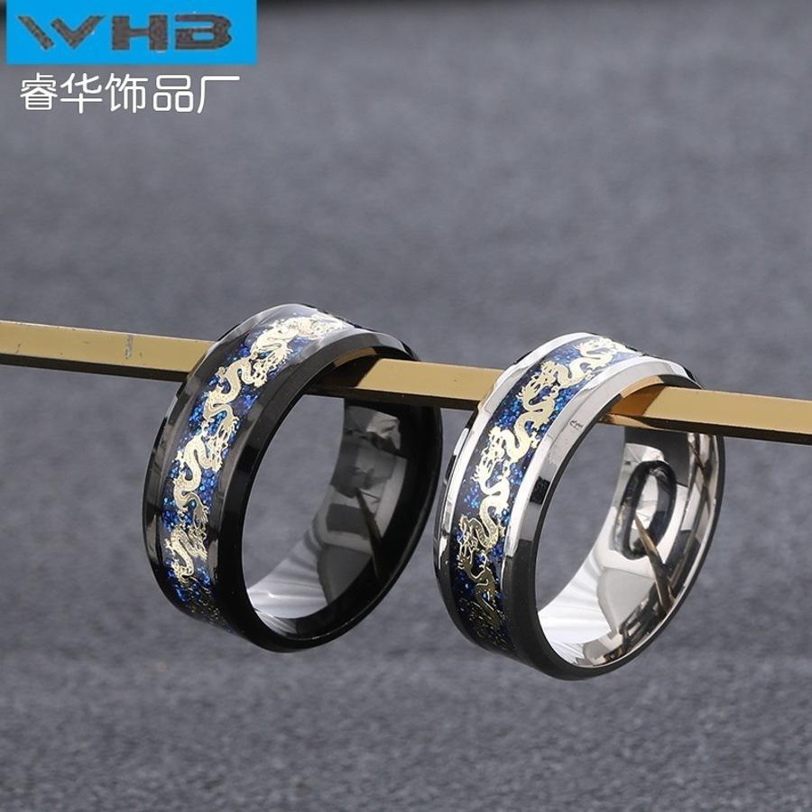 2021 anillo de compromiso de boda joyería de titanio acero de acero masculino metal yiwu inoxidable bo7q