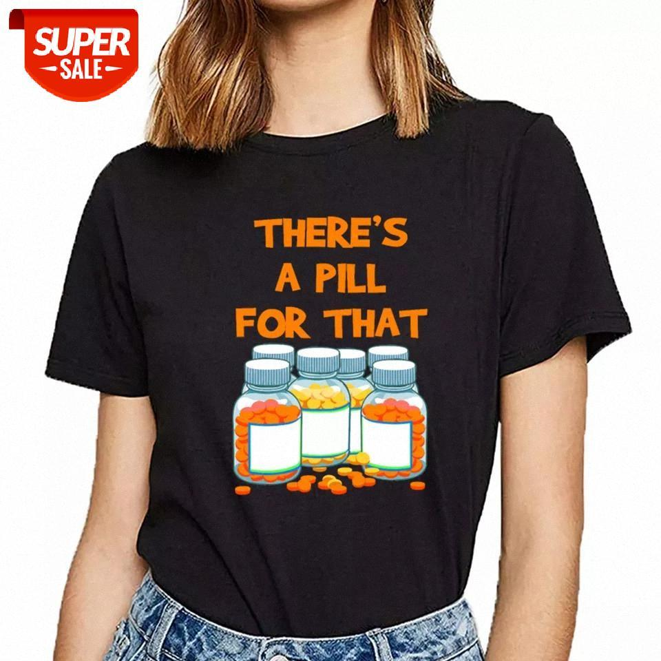 Tops Camiseta Mulheres Farmacêutico Comprimidos Técnico Técnico Farmácia Vogue Vintage Curto Feminino Tshirt Festa # VA3Z
