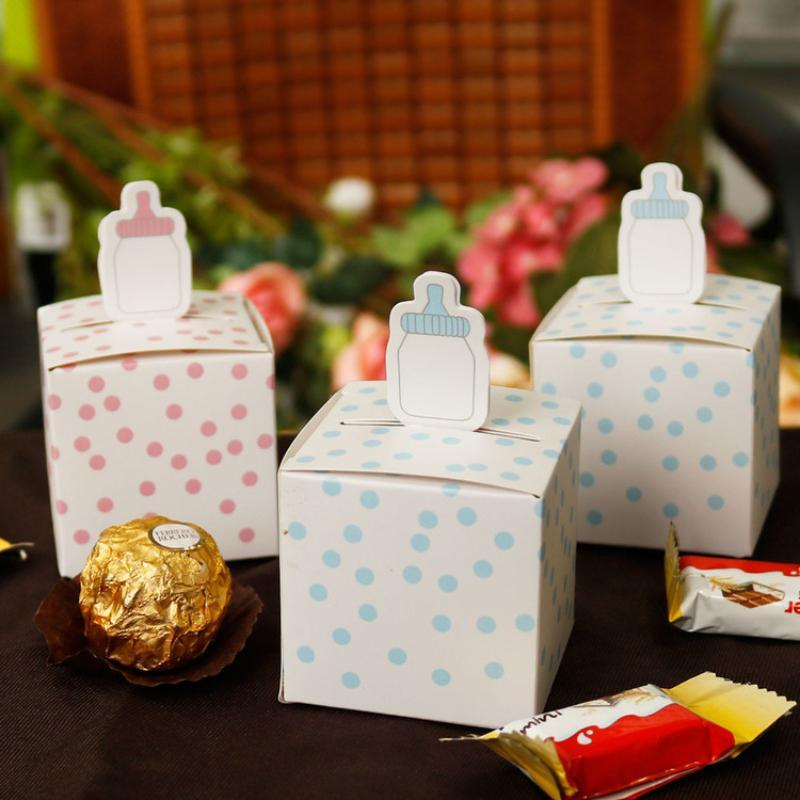 Christmas Decorations 50Pcs Creative Mini Korean Candy Gift Bag Box For Party Baby Shower Paper Chocolate Boxes Package Festival Favours