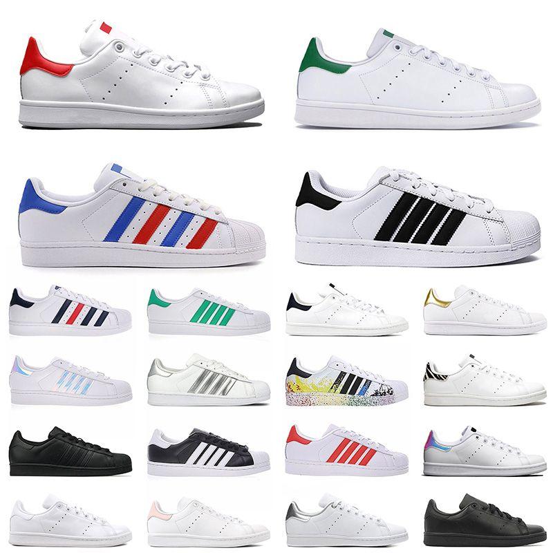 stan smith Superstars Rahat ayakkabılar Ucuz Raf Simons Stan Smiths Bahar Bakır beyaz Pembe Siyah Moda Adam Deri marka kadın erkek ayakkabı Flats Sneakers
