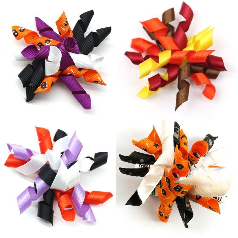 50/100 PC Pet Cheveux Cheveux Bivres de toilettage Produit Halloween Bands de caoutchouc Accessoires de vacances Fournitures Vêtements
