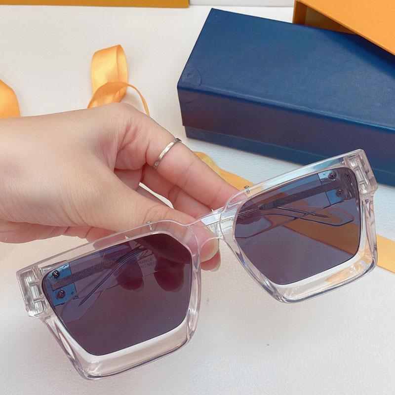 2021 official latest transparent sunglasses 1165W millionaire glasses fashion holiday square frame top quality with original box set delivery