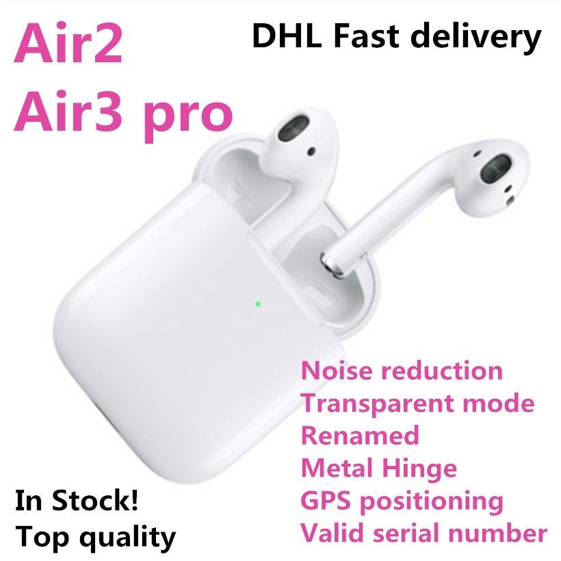 Hava Gen 3 AP3 Kulaklık TWS H1 Çip Kablosuz Şarj Bluetooth Kulaklıklar Pods Ap2 2nd Rename GPS iPhone 12 Mini Pro Max Samsung Galaxy S21 Ultra Xiaomi Huawei