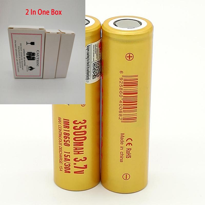 100 pcs 100% de alta qualidade IMR 30A 18650 Bateria 3500mAh IMR 3.7V para LG Sony Samsung Recarregável Baterias de Lítio Célula