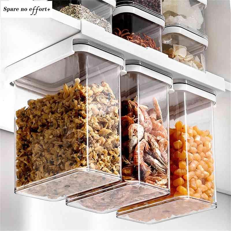 Panier de tiroir de l'organisateur extensible réglable Réfrigérateur tiroirs de tiroirs de stockage de couches d'espacement frais 210331