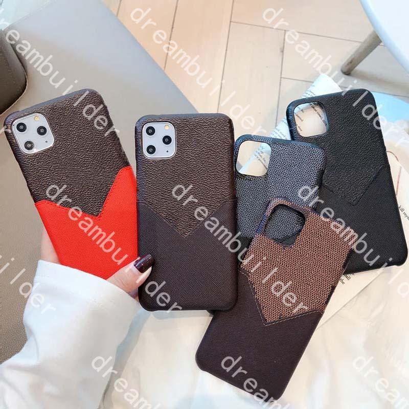 Casi del telefono della moda per iPhone 13 Pro Max 12 12Pro 13Promax 7 8 Plus x XS XR XSMax PU Custodia in pelle Shell Shell con carta
