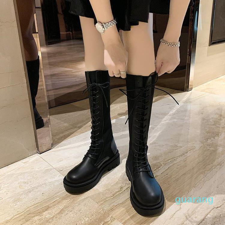 Fashion-Boots Women's 2021 Winter Thick Soled Knight Motorcycle Thin Short
