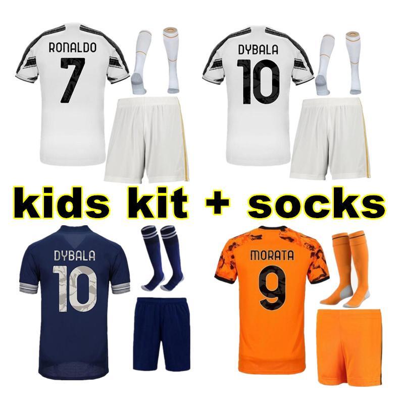 2019 2020 em casa Juventus Camisa De Futebol KIDS DYBALA RONALDO Camisa De Futebol 19 20 Personalizado DE LIGT MANDZUKIC longe camisas de futebol