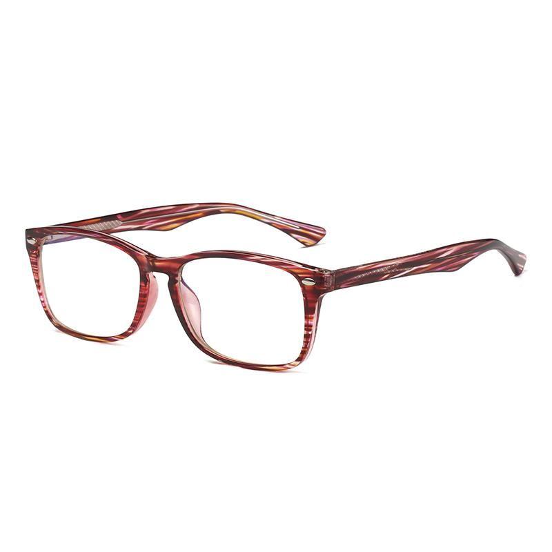 Sunglasses Drop Square Shape Colorful TR90 Optical Frame Anti Blue Light Blocking Unisex Eyeglasses