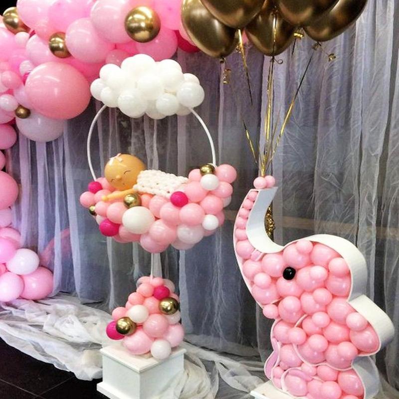 163x73 cm Dekor Daire Balon Kemer Çerçeve Balonlar Standı Tutucu Kiti Düğün Teions Ba Loon Doğum Günü Partisi Bebek Duş Ballon