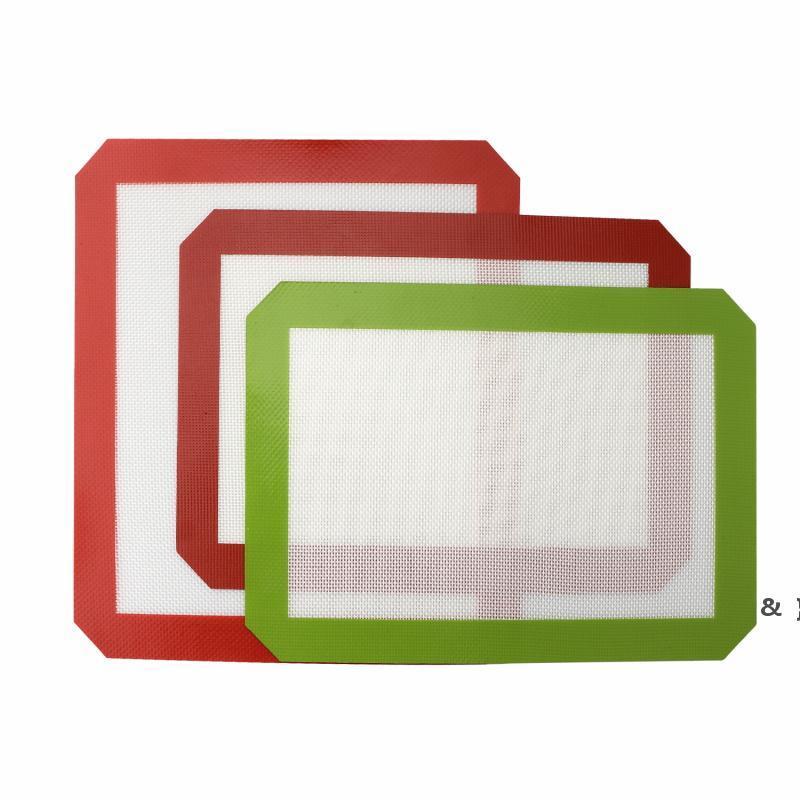 Non-Stick-Silikon-DAB-Matten (11,8 x 8,3 Zoll) Silikon-Backmatte für Wachsöl Backen Trocknen Kraut-Glas-Wasserbongs-Rigs BWC7619