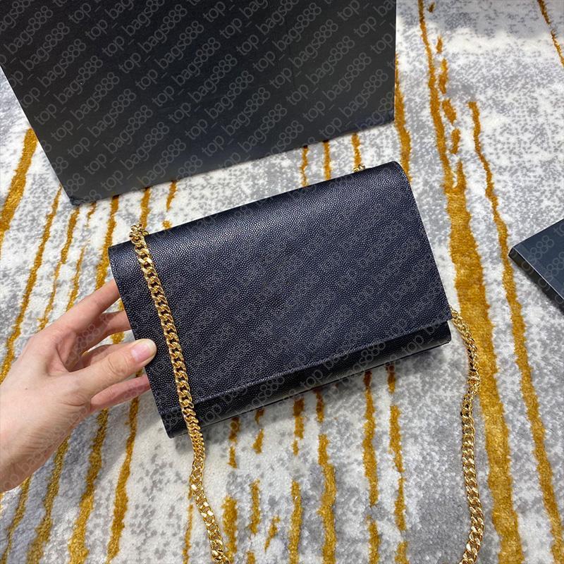 Designer marke schwarz klassische kalfskin caviar kette quaste tasche in strukturiert echtes leder top qualität handtaschen mit original box schulter crossbody frauen taschen
