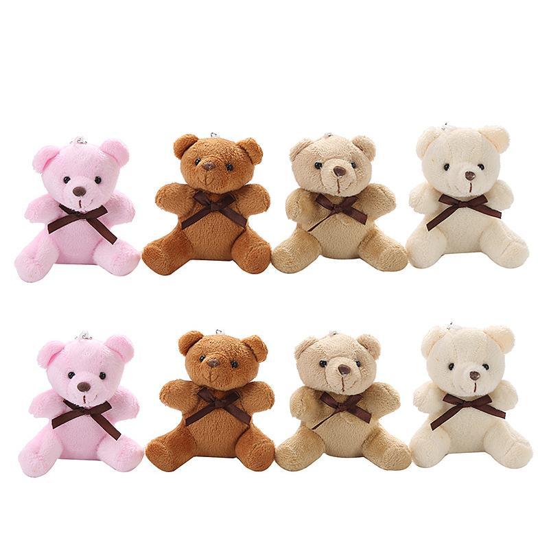 플러시 장난감 시뮬레이션 곰 펜던트 미니 인형 9cm 박제 동물 장난감 만화 어린이 생일 선물 키 체인 Z2456