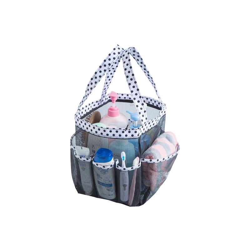 Gurgeln Waschen Gargle Aufbewahrungstasche Großes Mesh Beach Schwimmbad ABS-Taschen 8 Fach Multi-Pocket Tragbare Körbe DWC7409