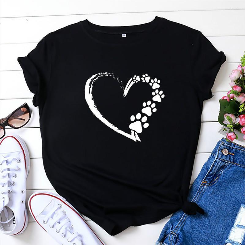 Camiseta para mujer NCLAGEN Dulce Corazón Impresión Mujeres Estética T-shirts 2021 Moda Harajuku Casual Manga corta O cuello Ropa a juego T Shir
