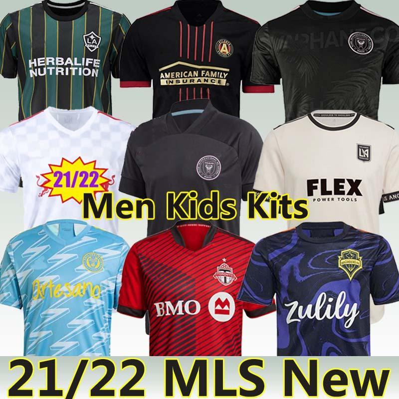 MLS 21/22 كرة القدم جيرسي بين ميامي لا غالاكسي لوس أنجلوس أتلانتا يونايتد نيويورك بورتلاند مونتريال فيلادلفيا 2021 لاف سي رجال الاطفال كيت