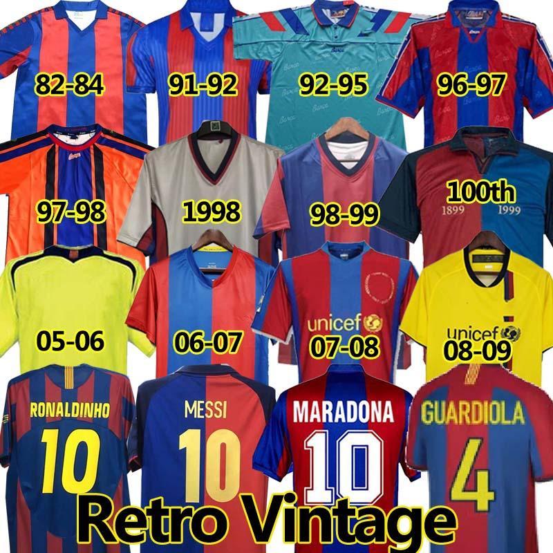 Barca Retro Soccer Jerseys FC Barcelona 유니폼 2005 2006 2007 2008 2009 2010 11 12 13 14 2015 1991 1992 1995 96 1997 1998 1999 Messi Ronaldinho Ronaldo Stoickov 100 축구 유니폼 축구 유니폼