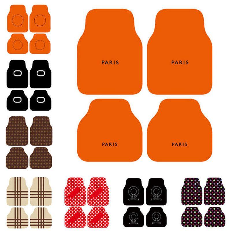 Mats Mats Carpets 4 шт. Установить роскошные печать ноги коврик ковров высокое качество крышки коврики применимые ко всем моделям автомобилей