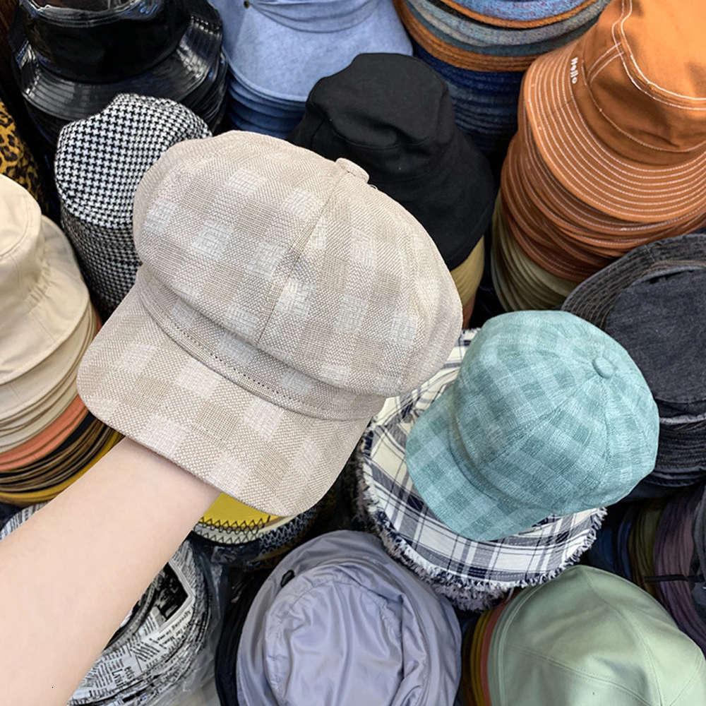 Acessórios de moda New versátil lattice chapéu octogonal na primavera e no verão