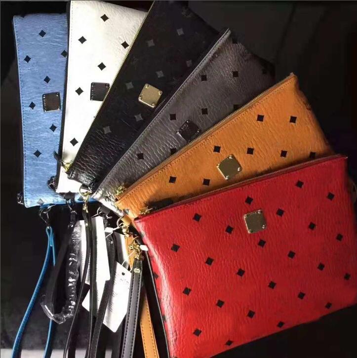 High quality leather printed men's handbag, large capacity women's storage bag, fashion wallet