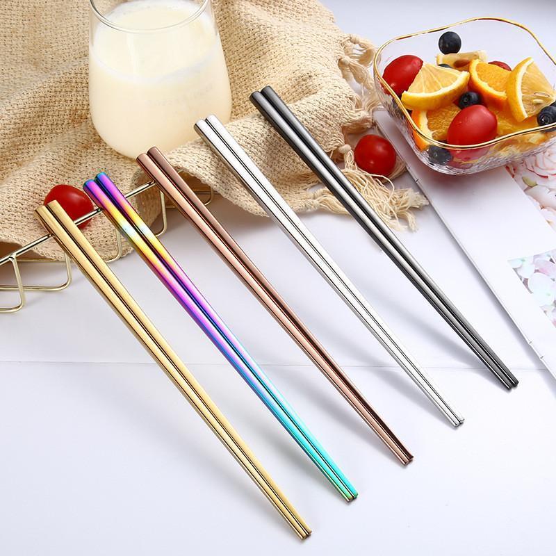 المعادن مربع عيدان لامعة التيتانيوم مطلي المضادة مكونات عالية الجودة 304 الفولاذ المقاوم للصدأ rainbow الذهبي عيدان