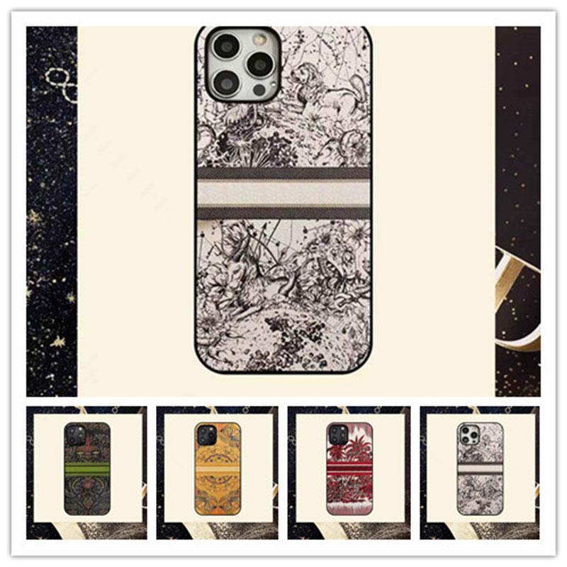 Moda Stylist iPhone Kılıfları Için 12 12pro 12promax Tüm Boyutu 7/8 / SE2 7P / 8P X / XS XR 11Promax Sanatsal Tasarımcılar Mektupları