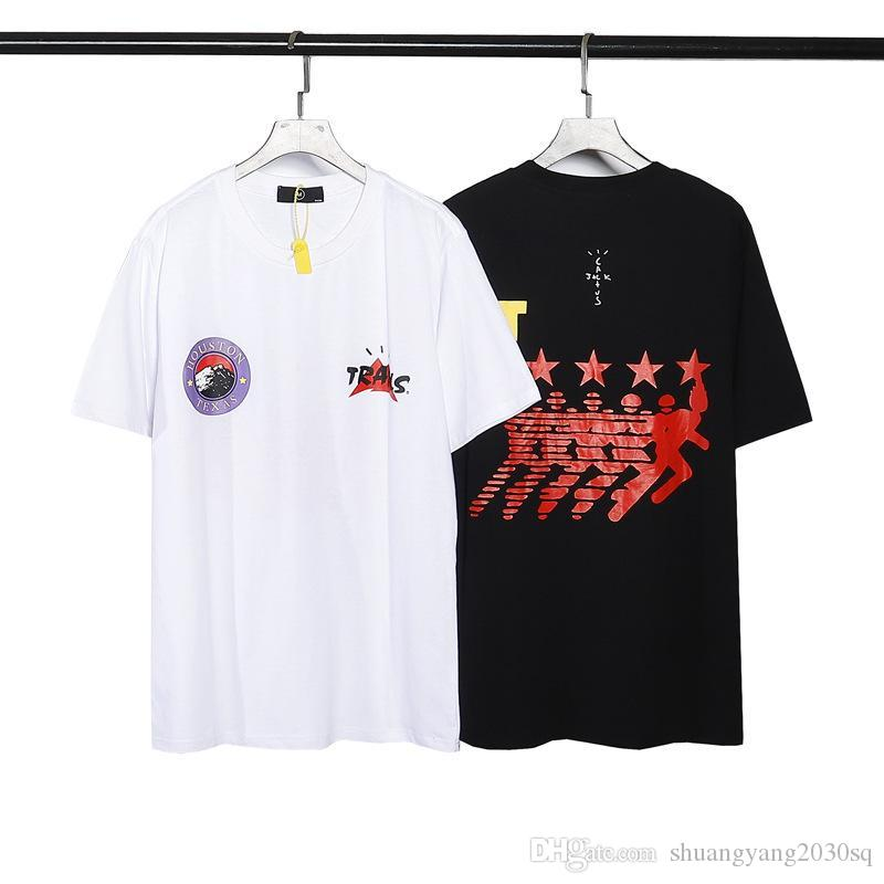 Designer da uomo Top Tees T-shirt a maniche corte T-shirt rossa Army Stampa a cinque punte Stampa da stella e camicie da donna Trends