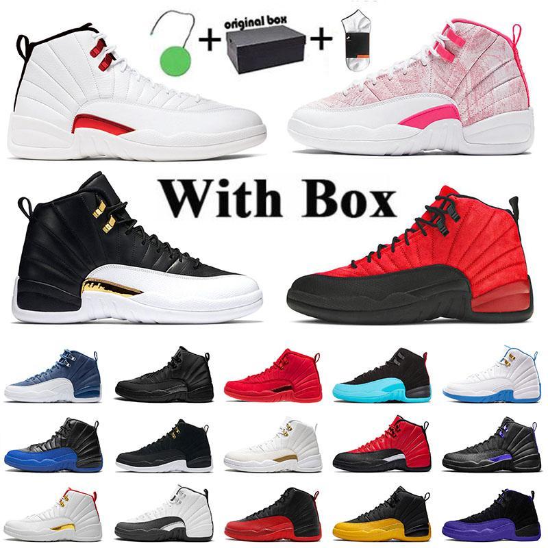 Ayakkabı Nike Air Jordan Retro 12 12s Jordans Jumpman Aj Bayan Erkek Basketbol Ayakkabıları XII Twist Flu Game Dark Concord University Gold OVO Gym red  Eğitmenler Spor Ayakkabılar