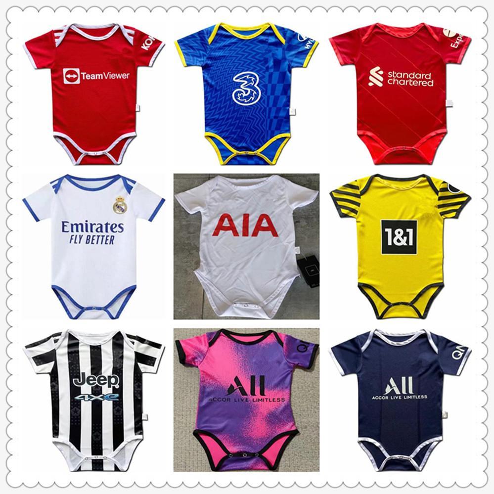kids football kits baby jerseys 2021 player version soccer jersey maillot foot shirt camisa de futebol Trainers shorts