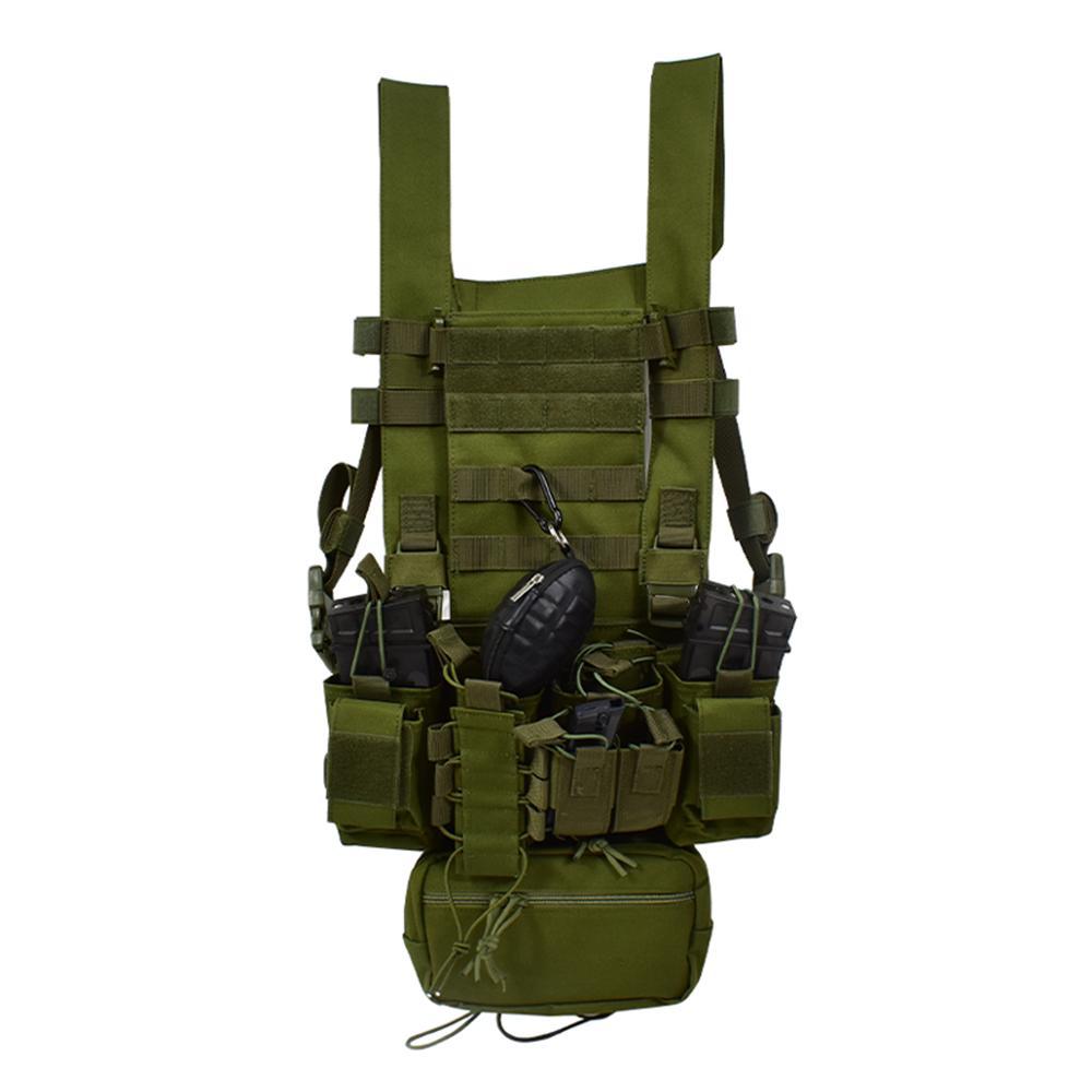 Модернизированная версия Наружная Охота Легкая Wargame D3 Chest Heake Tactical Жилет с Molle System и съемной аксессуарской сумкой.