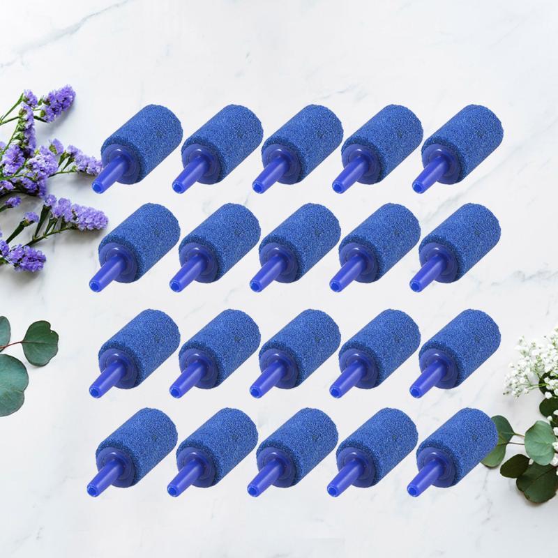 Pcs Air Stone Mineral Bubble Diffuser Airstones For Aquarium Fish Tank Pump Hydroponics (Blue) Pumps & Accessories