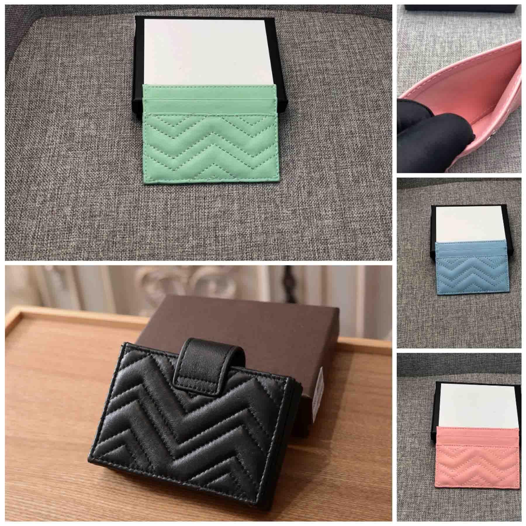 الفاخرة الكلاسيكية جلد الغنم حقيبة الأزياء سيدة جلد محفظة عملة محفظة حقيبة قصيرة مع مربع