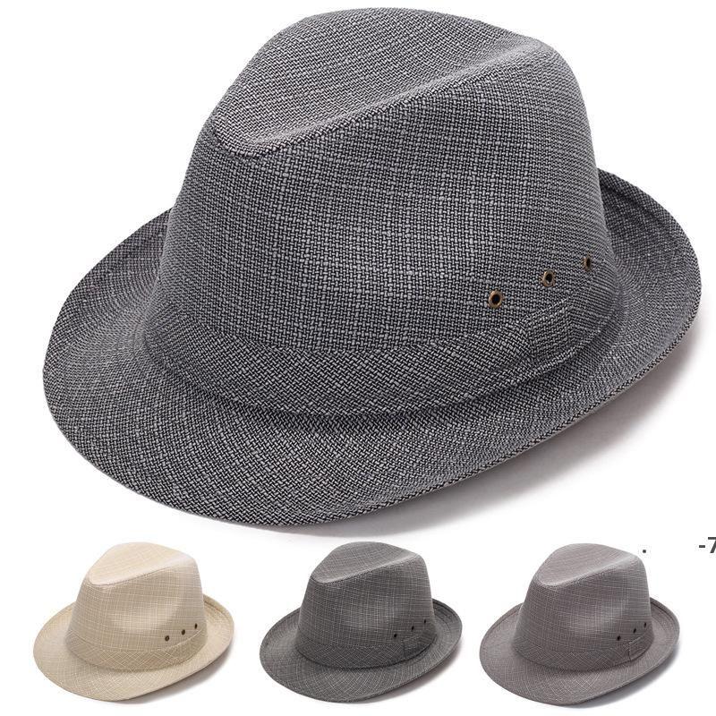 Sonnencreme-Hüte weiche stachelige Krempe Fedora Panama-Hut Unisex Sommer im Freien Reise Strand Schatten Sun Caps Mode Solid Cap FWC7535