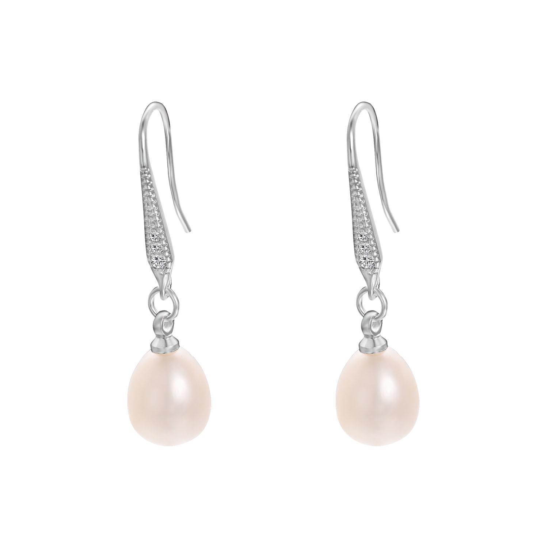 Yoursfs mode smycken 18k guldpläterad droppe formad pärl öra krok örhängen kvinna julklapp