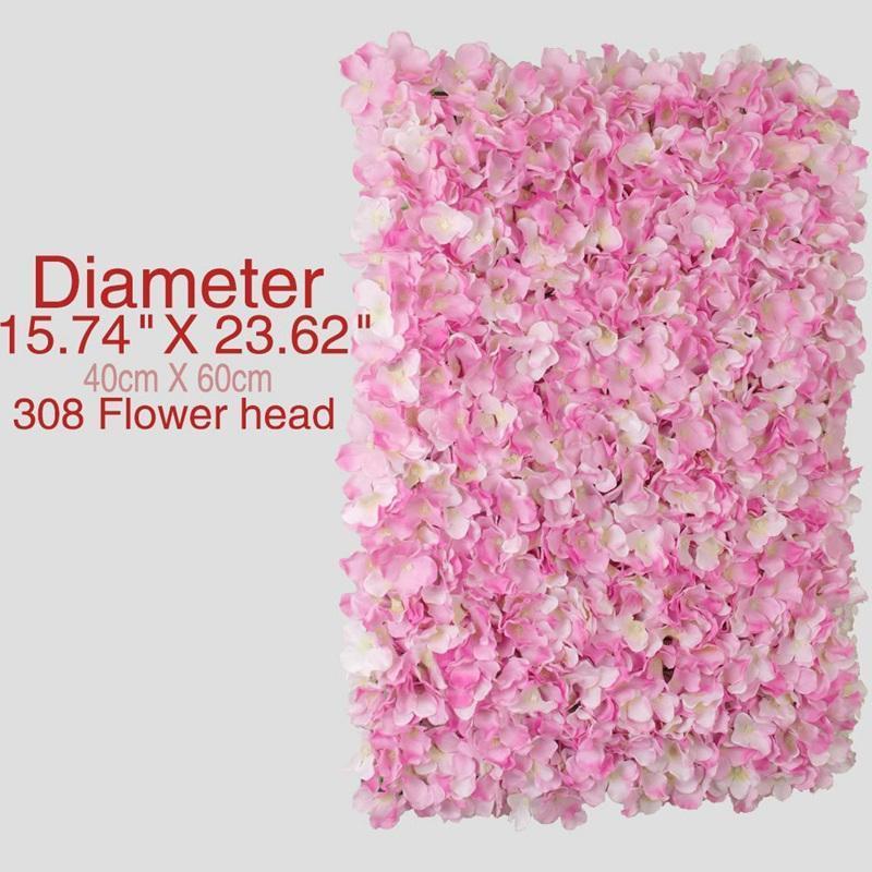 Dekorative Blumen Kränze Hochzeit Wand Künstliche Hortensie Row Ereignis Site Layout Dekoration Zubehör Kunststoff Blume