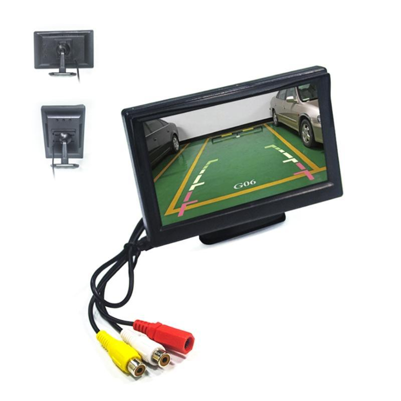 Car Video Parking Assistant System Kit LCD Monitor Display Rearview High Definition Screen Back-up Camera Rear View