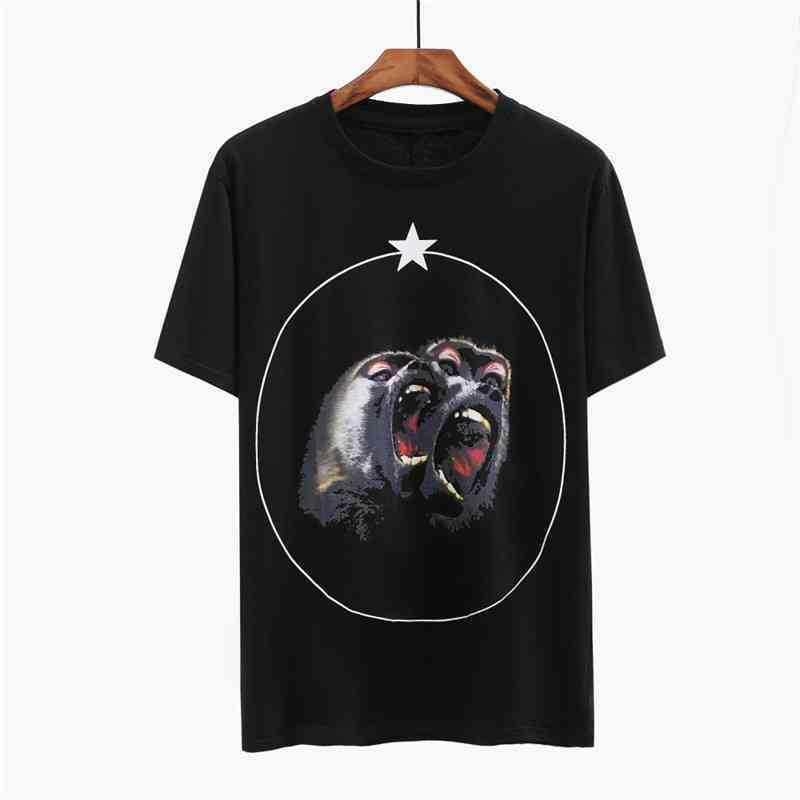 Estilista Camiseta Mens de Animais Imprimir mangas curtas Camisa dos homens Mulheres Casais de alta qualidade Tees Tamanho S-2XL