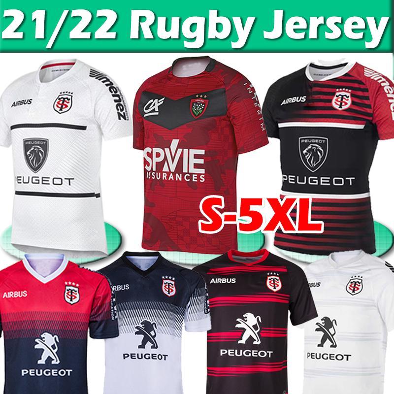 21/22 Toulouse Munster City Rugby-Trikots 2021 2022 Champion New Home Away Stade Touousain League Jersey Lentulus Hemden Freizeit Sport 3XL 4XL 5XL Top