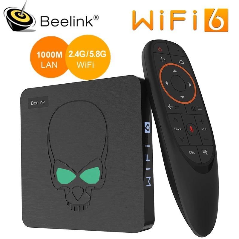 Beelink GT-KINK Smart Android TV Box Android 9.0 Amlogic S922X 4GB 64GB 2.4G التحكم الصوتي 5.8G WIFI 6 1000M LAN