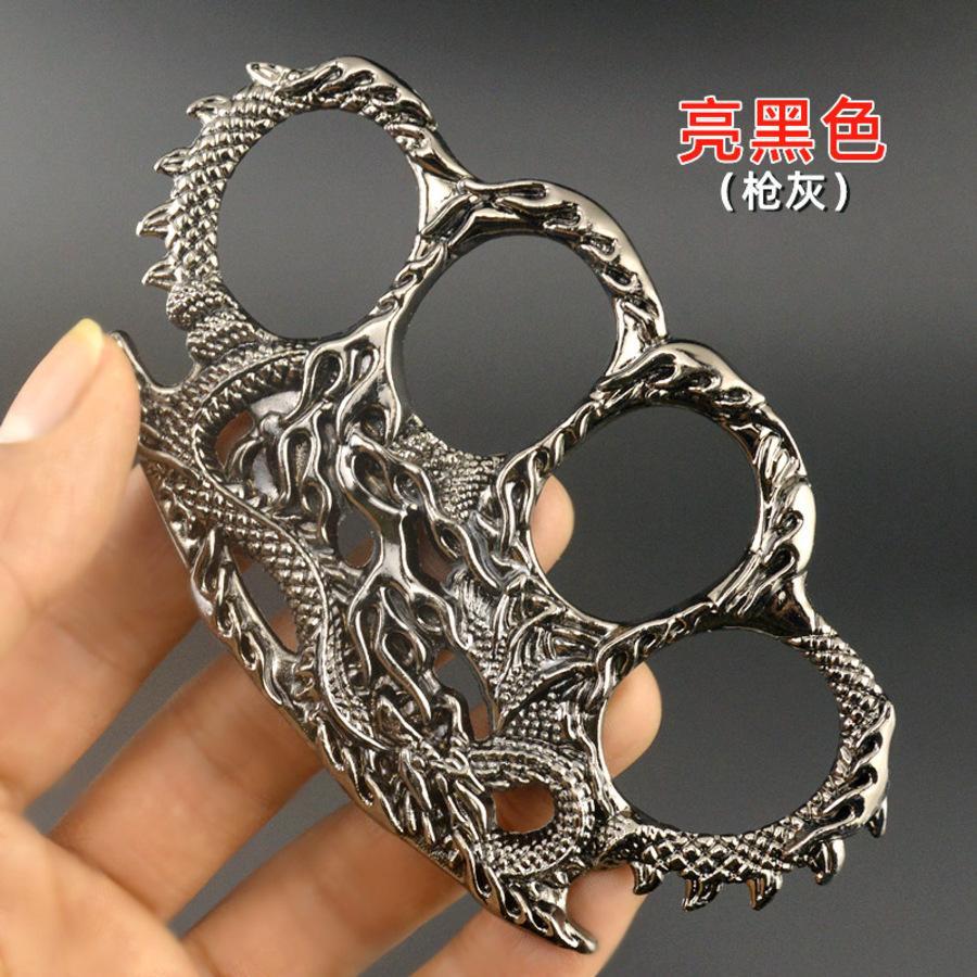 Chinese Dragon Iron Four Finger Clasper Fist Defense Tiger Boxing Set Legal Self Boxer Rings NJHZ802