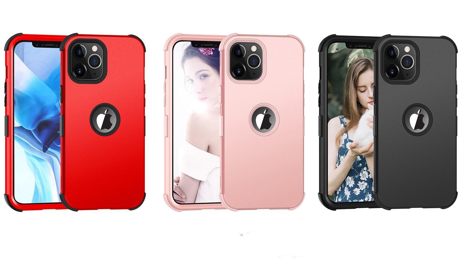 Для iPhone 12 Mini Pro Max Silicone Чехлы для телефона 3 цвета Защитная крышка