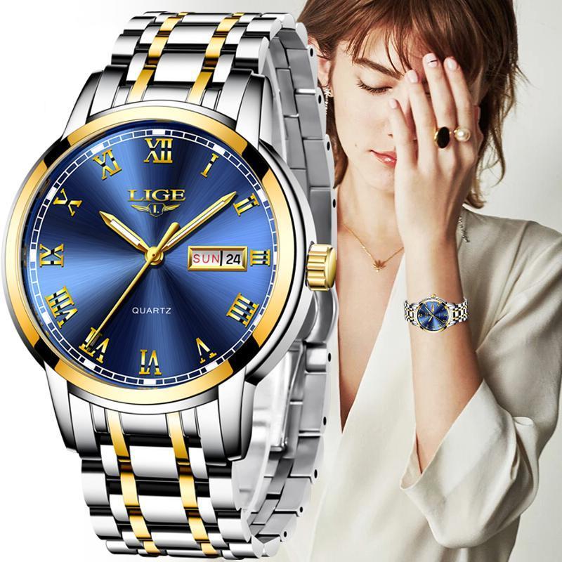 일본 쿼츠 여성 시계 패션 여성 손목 시계 스위스 방수 여성 팔찌 손목 시계