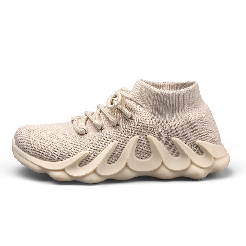 Kleinkind Socken Turnschuhe Infant Kinder Flache Schuh Kinder Mädchen Stretch Atmungsaktive Mesh Sport Laufschuhe Flammenunterseite