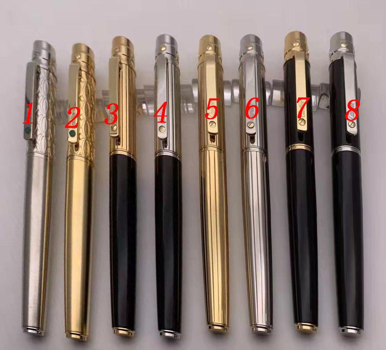 5A Highs Quality High Fin Business Signature Pens Metal Relabiling Ballpoint Pen Office de lujo Papelería de papelería Clásico Regalo de Navidad @GiftPen