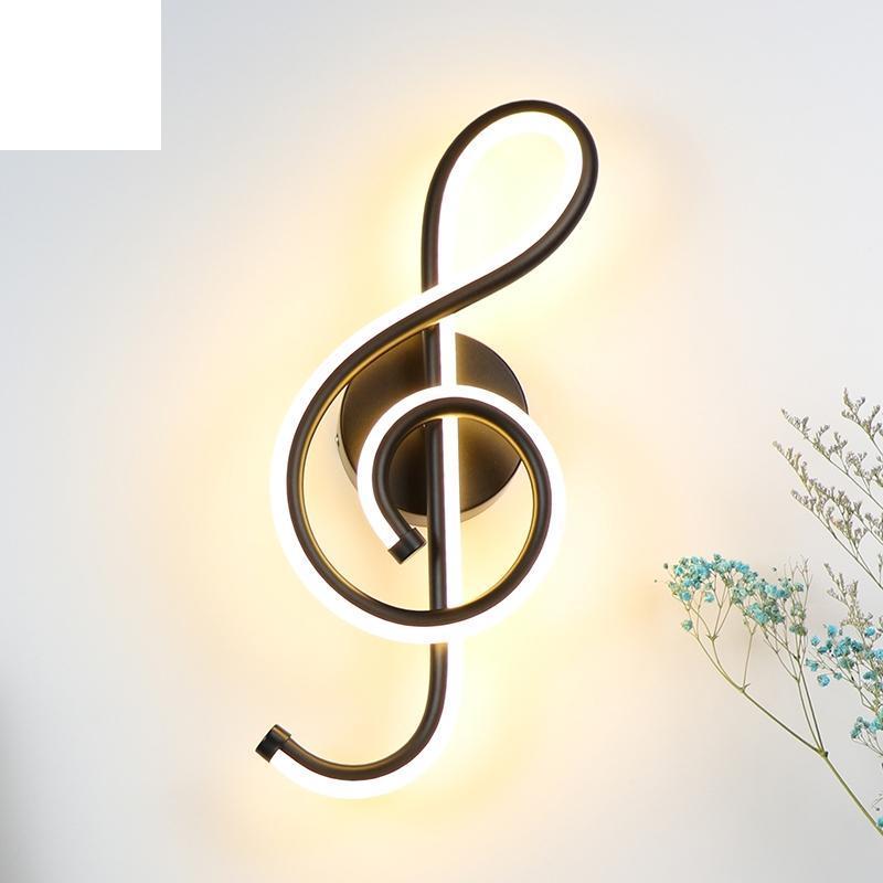 라이트 음악 음료 옆에 벽 램프 침실 홈 실내 거실 장식 조명 AC90-260V 블랙 / 화이트