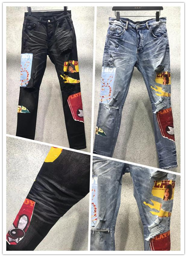 Arrival 2022ss Mens jeans Fashion High Quality Comfortable Men Casual Slim-leg Knee Patch Long Trousers Motorcycle Biker Pants Simple Plus Size W28-W40