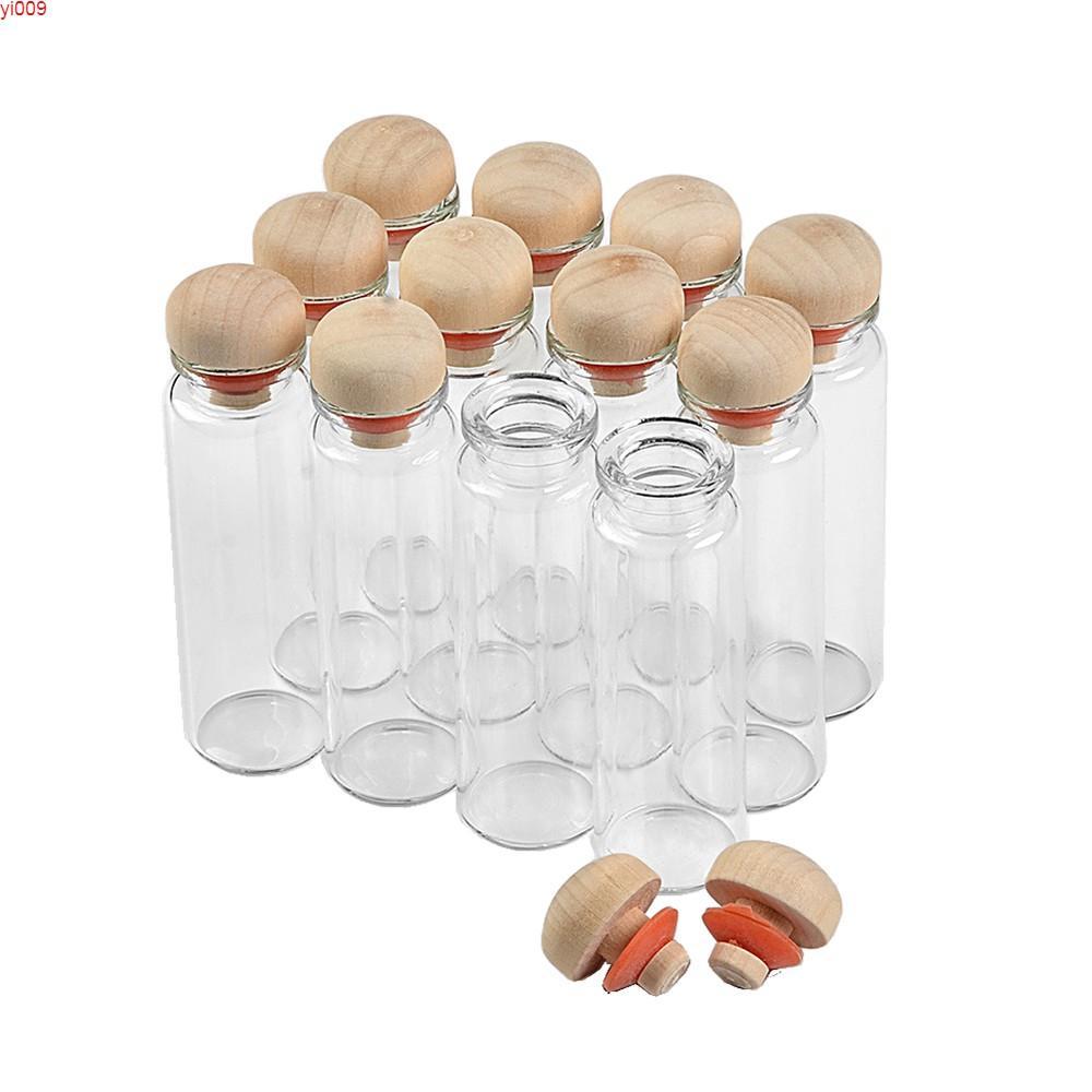 زجاجات الزجاج مع الفلين 18 ملليلتر لطيف ووازم الجرار الصغيرة ل هدية الزفاف حزب ديكورات 100pcsjars
