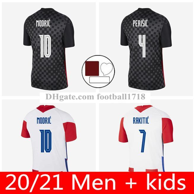 2021 태국 품질 축구 유니폼 크로아티 20 21 크로치아 Modric Perisic Rakitic Mandzukic Kovacic Repubika Hrvatska 축구 셔츠