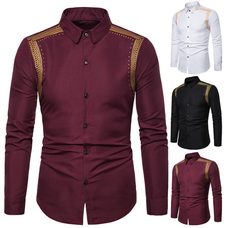 봄과 가을 남자의 면화 셔츠 긴 소매 품질 캐주얼웨어 셔츠