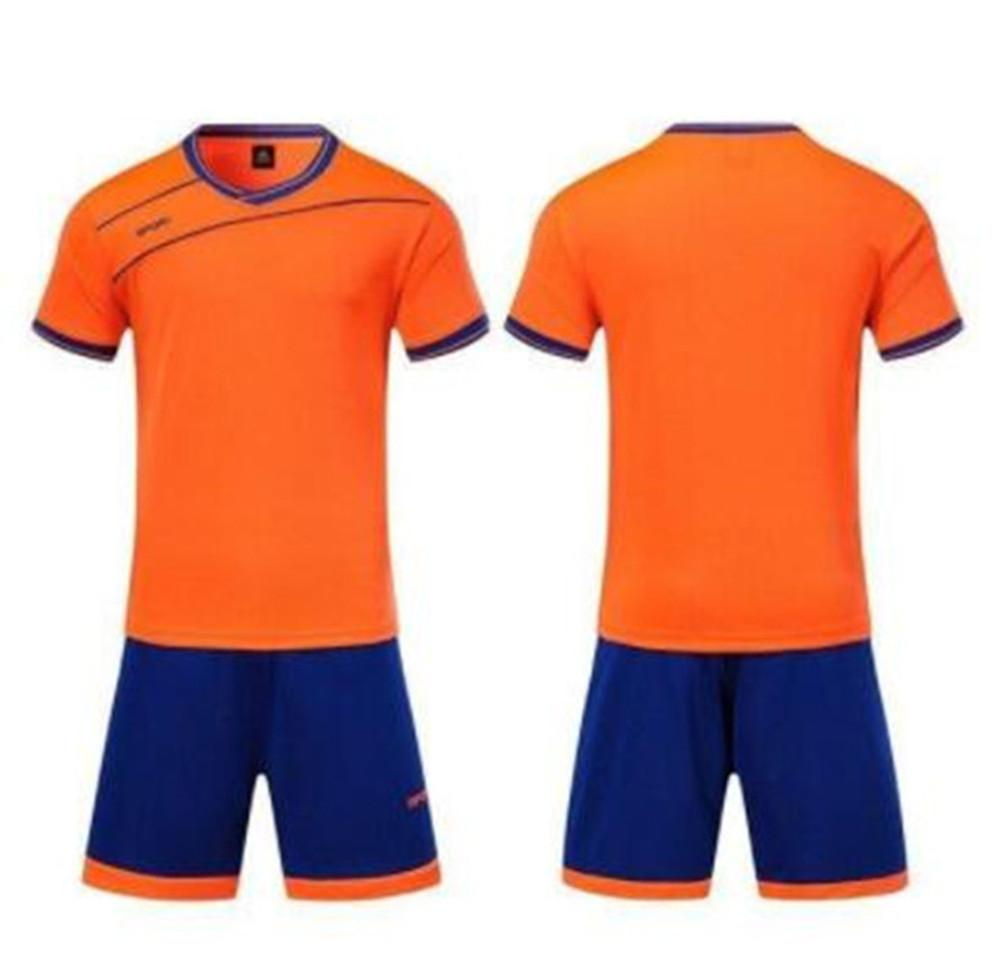 2021 22 Jersey de football adulte Jersey Smooth Royal Blue Football Sweat Absorbant et Respirant Formular d'enfants 100038